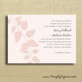 Blush Pink Wedding Invitations