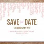 Pink Rain Printable Save The Date