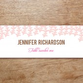 Pink Rain Printable Place Card