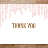 Pink Rain Printable Thank You Card