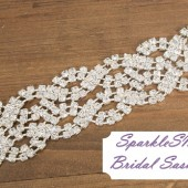 Piper Bridal Sash - SparkleSM Bridal Sashes