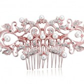 Piper Rose Gold Wedding Comb