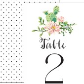 Modern Rustic Cactus Table Numbers – Piper Collection