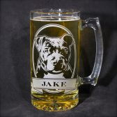 personalized pit bull beer stein