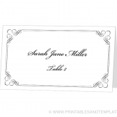 Place Card Template - Forever Design
