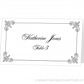 Place Card Template - Katherine Design