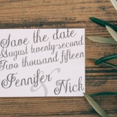 Plain Elegance Save The Date Card