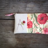 Poppy Floral Wedding Clutch Purse