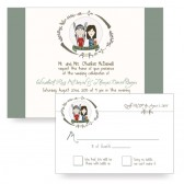 Custom Illustrated Portrait Wedding Invitation
