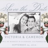 Primavera Save the Date, vintage save the date, vintage wedding, floral wedding, floral save the date, garden save the date