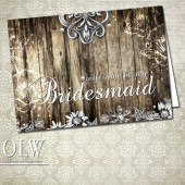 Rustic will you be my Bridesmaid (wedding party) cards
