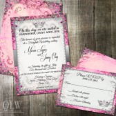Vintage Fairytale Royal Wedding Invitation and RSVP