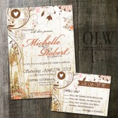 Shabby Chic Fancy Flourishes on White Wood Background wedding invite digitable printable
