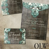 Rustic Lace Wedding Stationery Suite