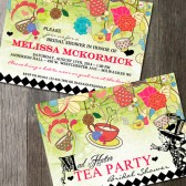 Mad Hatter Tea Party Bridal Shower Invitation