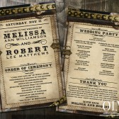 Steampunk Wedding Program