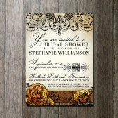 Floral Bridal Shower Invitation Wedding Invitation