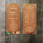 Floral Succulent Wedding Program