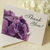 Purple Hydrangea Thank You Cards