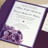 Purple Hydrangea Wedding Invitation