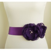 Purple Bridal Dress Sash