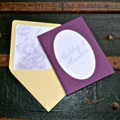 Glitter Book Wedding Invitation