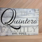Wedding pallet sign - distressed - rustic decor - rustic wedding - family last name - couple wedding gift - in colors of your choice