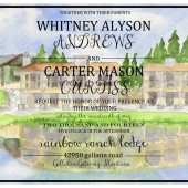 Custom Wedding Invitation