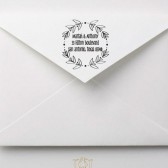 Whimsical Rustic Wreath Wedding Address Stamp – RC001
