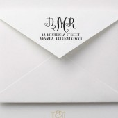 Whimsical Hand Drawn Monogram Address Stamp – RC002