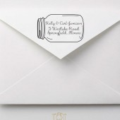 Rustic Mason Jar Wedding Address Stamp – RC003