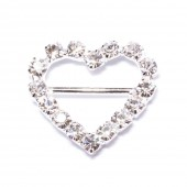 RHINESTONE HEART BUCKLE 106