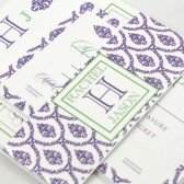 Classic damask wedding invitation – Rachel