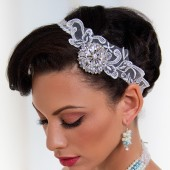 Rebecca- Swarvoski and lace rhinestone hair band