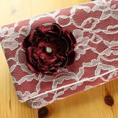 red bridesmaid clutch