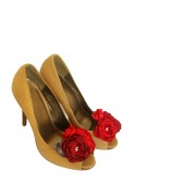 Red Wedding Shoes Bouquets