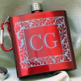 Red Oak Flask, Personalized Gift for Groomsmen