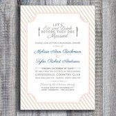 Preppy Stripes Rehearsal Dinner Invitation
