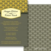 Yellow Gray Invitations