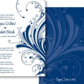 Blue White Invitations