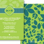 Green Blue Leaf Invitations