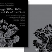 Black Gray Invitations