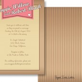 Pink Banner Invitations