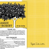 Yellow Wedding Program