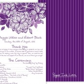 Purple White Floral Menu