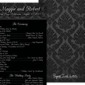 Black White Damask Program
