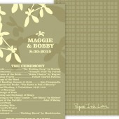 Light Green Wedding Program