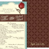 Rose Wedding Program