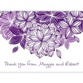 Purple White Thank You Cards
