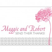 Pink Flower Thank You Cards